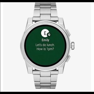 Michael Kors silvertone Grayson Smartwatch